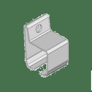 Bevestigingsbeugel type B01 geschikt voor wandmontage van NIKO Helm Hellas railprofielen