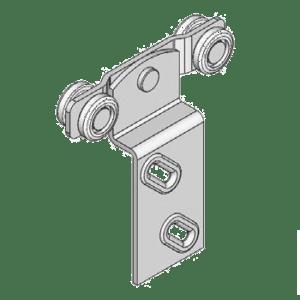 Industriële schuifdeurroller type R04 voor schuifdeursystemen van merk NIKO Helm Hellas