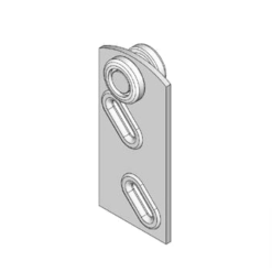 Industriële schuifdeurroller type R13 voor schuifdeursystemen van merk NIKO Helm Hellas