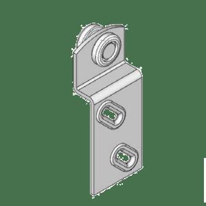 Industriële schuifdeurroller type R14 voor schuifdeursystemen van merk NIKO Helm Hellas