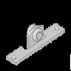 Industriële schuifdeurroller type R15 voor schuifdeursystemen van merk NIKO Helm Hellas