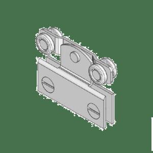 Industriële schuifdeurroller type R41 van merk NIKO Helm Hellas voor glaspanelen