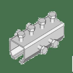 Koppelstuk type B49 voor het verbinden van NIKO Helm Hellas railprofielen