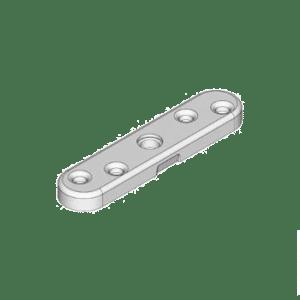 bevestigingflens type F00 t.b.v. montage van schuifdeurrollen op paneeldeuren