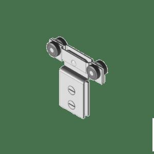 Industriële schuifdeurroller type R40 van merk NIKO Helm Hellas voor glaspanelen