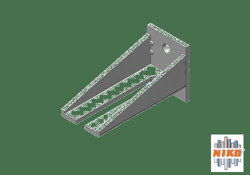 RV316 Bevestigingsbeugel type B06 geschikt voor wandmontage van NIKO Helm Hellas railprofielen