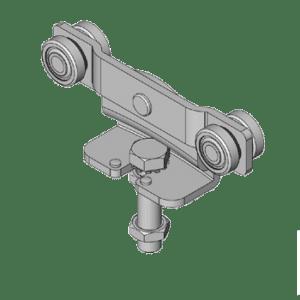 Industriele schuifdeurroller type R91 voor schuifdeursystemen van merk NIKO Helm Hellas