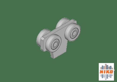 Trolley geschikt voor hangbaansystemen van NIKO Helm Hellas