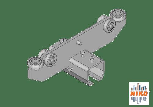 Kraanbaan trolley type T54 geschikt voor hangbaansystemen van merk NIKO Helm Hellas
