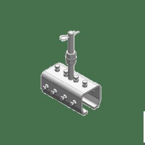 Koppelstuk met draadeind type B11 voor het verbinden van NIKO Helm Hellas railprofielen