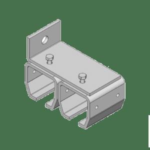 bevestigingsbeugel type B31 geschikt voor wandmontage van dubbel railprofiel van NIKO Helm Hellas