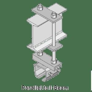 In hoogte stelbare ophangbeugel voor NIKO Helm Hellas railprofielen