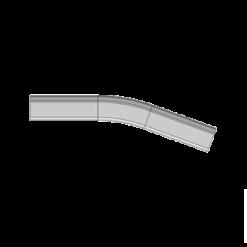 neergaande verticale bocht gemaakt uit stalen railprofiel type