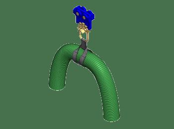 Slangwagen t.b.v. slangen tot 125mm voor railsystemen van merk NIKO Helm Hellas