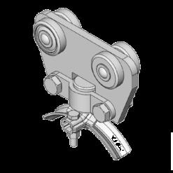 stalen rondkabelwagen type L32 voor kabels tot 32mm van merk NIKO Helm Hellas