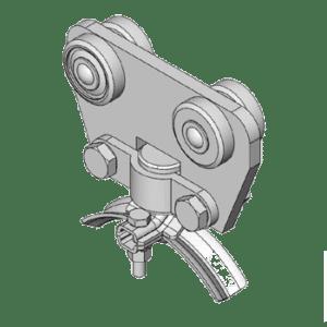 stalen rondkabelwagen type L43 voor kabels tot 43mm van merk NIKO Helm Hellas