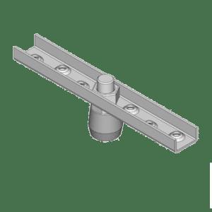 Bevestigingsflens met messing geleidewiel type M00 geschikt voor NIKO Helm Hellas U-profiel