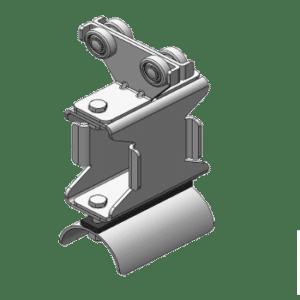 stalen vlakkabelwagen met meeneem beugel type M10 voor platte kabels van merk NIKO Helm Hellas
