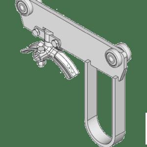 rondkabelwagen met meeneem beugel type M43 voor kabels tot 43mm van merk NIKO Helm Hellas