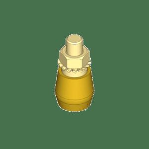 Messing rol met buitendraad type M49 t.b.v. begeleiding van schuif- en vouwdeursystemen van NIKO Helm Hellas