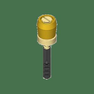 Messing geleiderrol met bout en plug voor schuif- en vouwdeursystemen van NIKO Helm Hellas