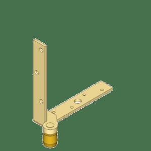Hoekbeugel geschikt voor ondergeleiding via u-profielen van NIKO Helm Hellas