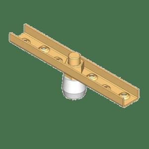 Bevestigingsflens met kunststof geleidewiel type N00 geschikt voor NIKO Helm Hellas U-profiel