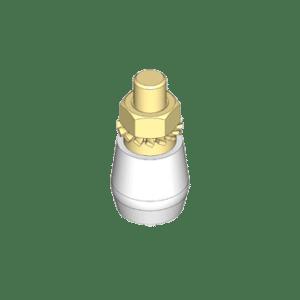 Kunststof rol met buitendraad type N49 t.b.v. begeleiding van schuif- en vouwdeursystemen van NIKO Helm Hellas