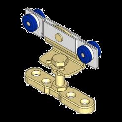 Schuifdeurroller type R01 voor schuifdeursystemen van merk NIKO Helm Hellas