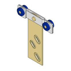 Industriële schuifdeurroller type R03 voor schuifdeursystemen van merk NIKO Helm Hellas