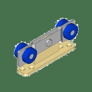 Industriële schuifdeurroller type R05 voor schuifdeursystemen van merk NIKO Helm Hellas