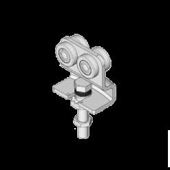 Vouwdeurroller type R86 geschikt voor NIKO Helm Hellas vouwdeursystemen