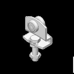 Industriële schuifdeurroller type R90 voor schuifdeursystemen van merk NIKO Helm Hellas