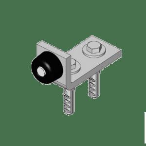Eindstop voor deurpanelen type X02 van merk NIKO Helm Hellas