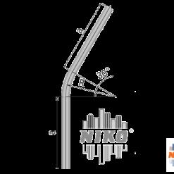 30° graden gebogen railprofiel type 27.000 geschikt voor railsystemen van NIKO Helm Hellas
