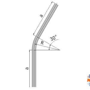 30° graden gebogen railprofiel type 75.000 geschikt voor railsystemen van NIKO Helm Hellas