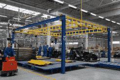 Werkplaats kraanbaansysteem