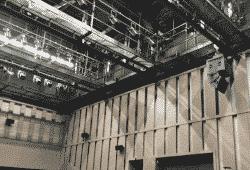 industriële railsystemen voor gebruik in theaters