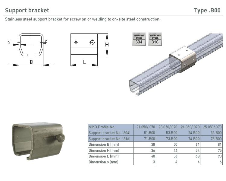 afbeelding met afmetingen en maatvoering van NIKO Helm Hellas product type B00