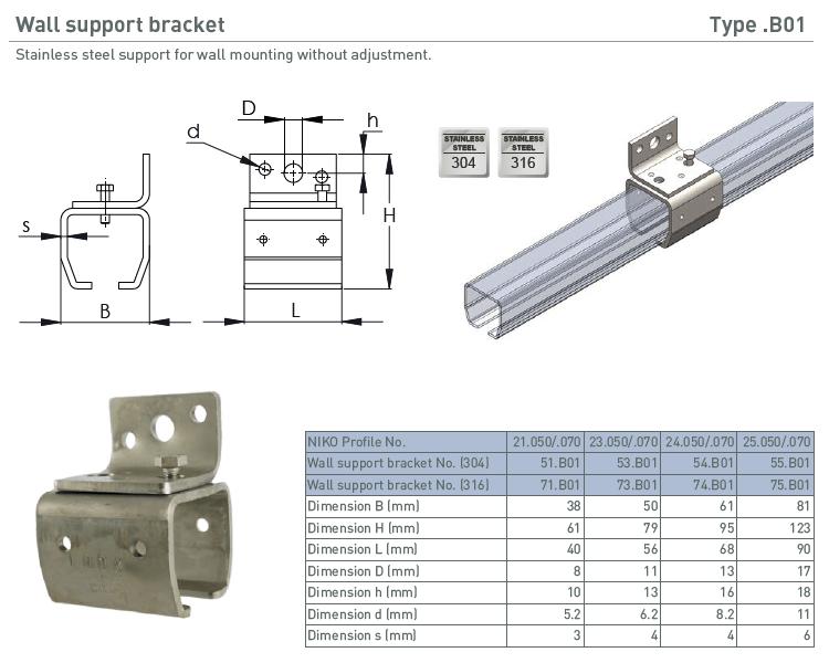 afbeelding met afmetingen en maatvoering van NIKO Helm Hellas product type B01