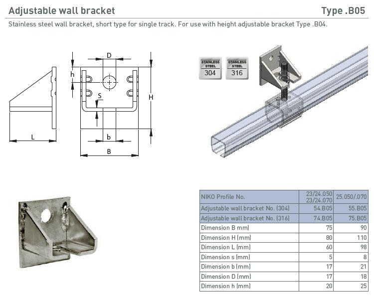 afbeelding met afmetingen en maatvoering van NIKO Helm Hellas product type B05