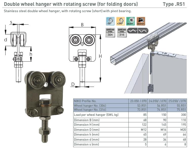 afbeelding met afmetingen en maatvoering van NIKO Helm Hellas product type R51