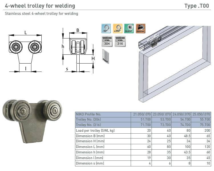 afbeelding met afmetingen en maatvoering van NIKO Helm Hellas product type T00
