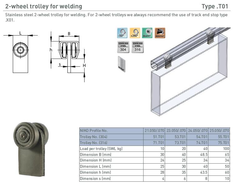 afbeelding met afmetingen en maatvoering van NIKO Helm Hellas product type T01