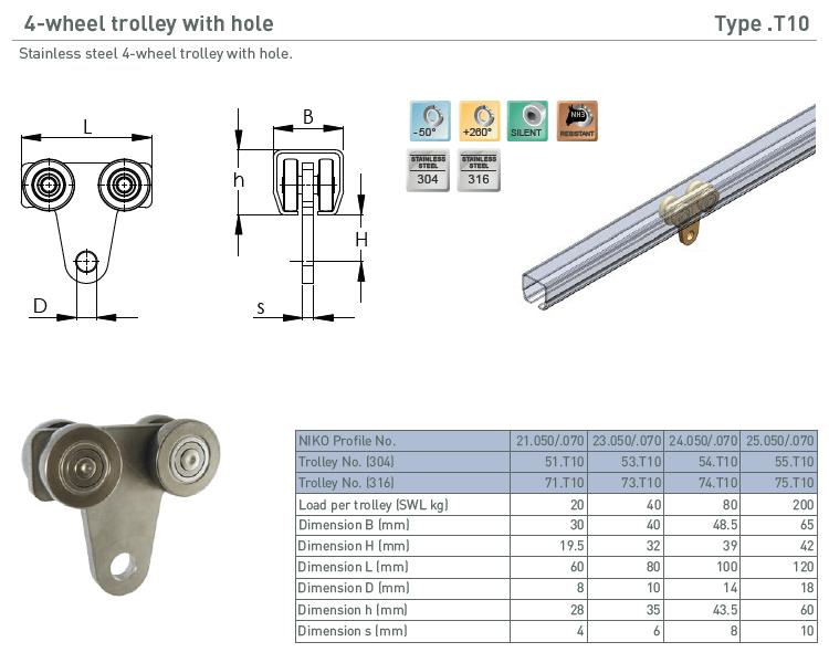 afbeelding met afmetingen en maatvoering van NIKO Helm Hellas product type T10