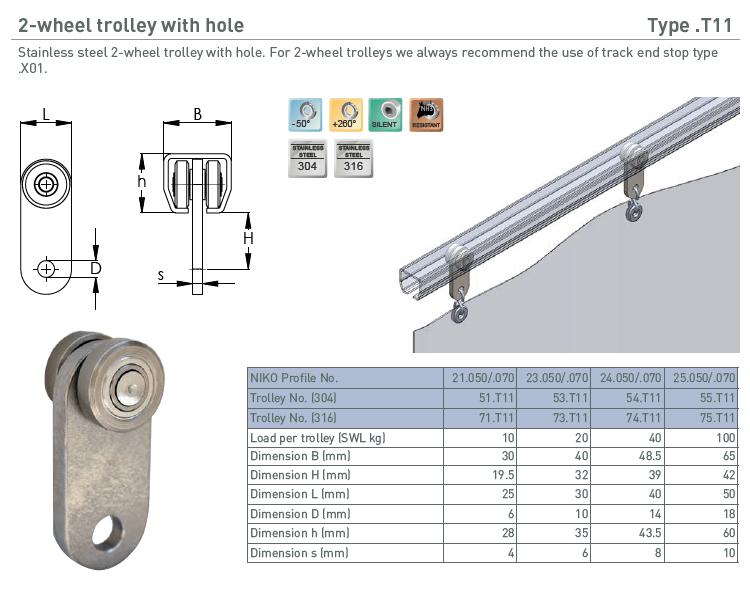 afbeelding met afmetingen en maatvoering van NIKO Helm Hellas product type T11