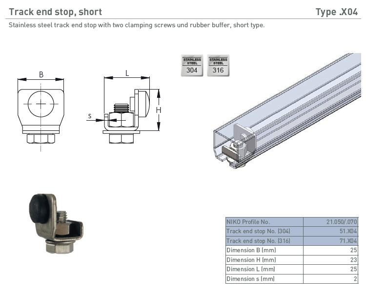 afbeelding met afmetingen en maatvoering van NIKO Helm Hellas product type X04