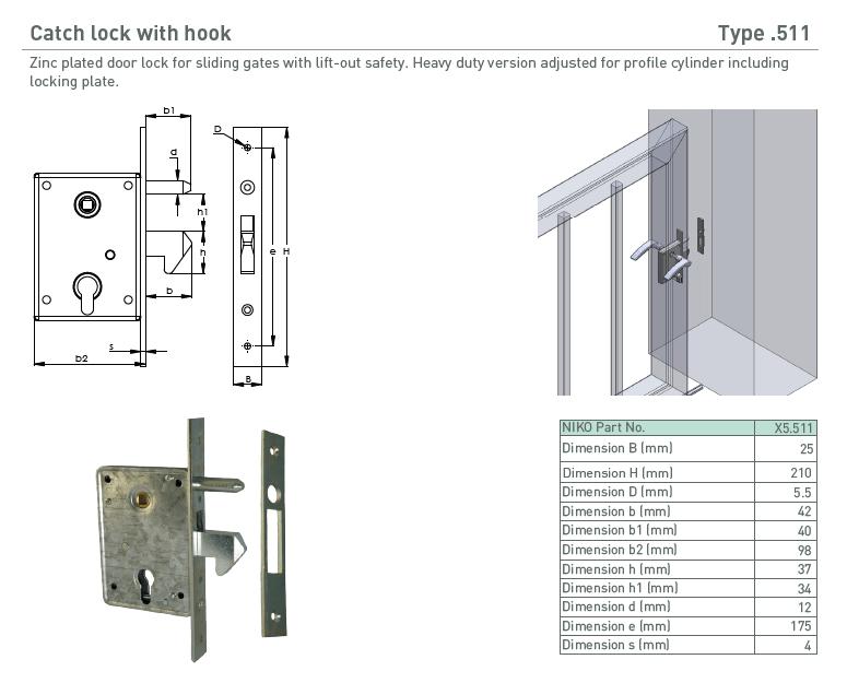 afbeelding met afmetingen en maatvoering van NIKO Helm Hellas product type 511