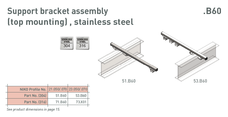 afbeelding met afmetingen en maatvoering van NIKO Helm Hellas product type 70.B60