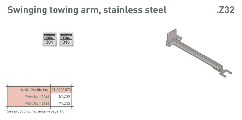 afbeelding met afmetingen en maatvoering van NIKO Helm Hellas product type 70.Z32